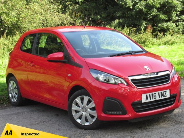 USED 2016 16 PEUGEOT 108 1.0 ACTIVE 3d 68 BHP LOW MILEAGE STARTER CAR