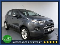 USED 2016 16 FORD ECOSPORT 1.5 ZETEC 5d AUTO 110 BHP FULL FORD HISTORY - 1 OWNER - ULEZ OK - REAR SENSORS - AIR CON - BLUETOOTH - CD PLAYER - AUX / USB