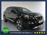 USED 2017 17 PEUGEOT 3008 1.6 THP S/S GT LINE 5d AUTO 165 BHP PEUGEOT HISTORY - 1 OWNER - SAT NAV - PARKING SENSORS - CAMERA - AIR CON - BLUETOOTH - DAB - CRUISE
