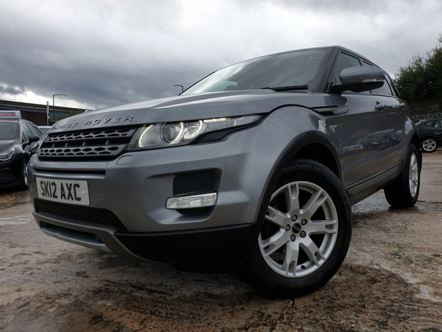 USED 2012 12 LAND ROVER RANGE ROVER EVOQUE 2.2 SD4 PURE TECH 5d AUTO 190 BHP 2KEYS+LEATHER+18ALLOY+CLIMATE+PRIVGLASS+PARK+BLUETOOTH+NAV+MEDIA+