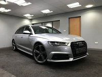 USED 2015 15 AUDI A6 2.0 AVANT TDI ULTRA BLACK EDITION 5d AUTO 188 BHP full leather, sat nav