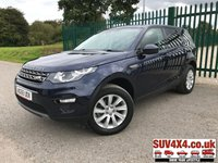 USED 2015 65 LAND ROVER DISCOVERY SPORT 2.0 TD4 SE TECH 5d 180 BHP 7 SEATER SATNAV LEATHER PRIVACY 7 SEATER. SATELLITE NAVIGATION. STUNNING BLUE MET WITH PART LEATHER TRIM. HEATED SEATS. CRUISE CONTROL. 18 INCH ALLOYS. COLOUR CODED TRIMS. PRIVACY GLASS. PARKING SENSORS. ELECTRIC TAILGATE. BLUETOOTH PREP. CLIMATE CONTROL INCLUDING AIR CON. MULTIMEDIA SYSTEM. R/CD/DAB RADIO. 6 SPEED MANUAL. MFSW. MOT 08/20. ONE PREV OWNER. SERVICE HISTORY. SUV4X4 USED SUV CENTRE LS23 7FR. TEL 01937 849492. OPTION 2