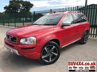 USED 2014 14 VOLVO XC90 2.4 D5 R-DESIGN NAV AWD 5d AUTO 200 BHP 7 SEATER LEATHER 19 BLACK ALLOYS FSH 4WD. 7 SEATER. SATELLITE NAVIGATION. STUNNING RED MET WITH FULL TWO/TONE R-DESIGN LEATHER TRIM. ELECTRIC HEATED MEMORY SEATS. CRUISE CONTROL. 19 INCH BLACK ALLOYS. COLOUR CODED TRIMS. PRIVACY GLASS. PARKING SENSORS. BLUETOOTH PREP. CLIMATE CONTROL. R/CD PLAYER. MFSW. ROOF BARS. MOT 03/20. ONE PREV OWNER. SERVICE HISTORY. SUV4X4 USED SUV CENTRE LS23 7FR. TEL 01937 849492. OPTION 2