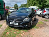 2014 MERCEDES-BENZ A CLASS 1.5 A180 CDI ECO SE 5d 109 BHP IN METALLIC BLACK WITH 53,000 MILES AND A FULL SERVICE HISTORY! £9999.00