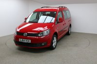 USED 2014 64 VOLKSWAGEN CADDY MAXI 1.6 C20 LIFE TDI 5d AUTO 101 BHP FINISHED IN STUNNING RED + HEATED SEATS + PARKING SENSORS + 1 OWNER + FULL SERVICE HISTORY