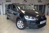 USED 2016 16 VOLKSWAGEN SHARAN 2.0 SE TDI BLUEMOTION TECHNOLOGY 5d 148 BHP FINISHED IN STUNNING BLACK WITH CLOTH UPHOLSTERY + FULL SERVICE HISTORY + 7 SEATS + PARKING SENSORS + CD/AUX/USB INLETS + CLIMATE CONTROL + CRUISE CONTROL + BLUETOOTH + AIR CONDITIONING