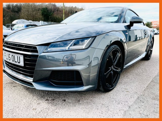 "USED 2015 15 AUDI TT 2.0 TFSI S LINE 2d 227 BHP VIRTUAL COCKPIT NAVIGATION / BLUETOOTH / MEDIA/ DAB RADIO - REAR PARK SENSORS - 19"" ALLOYS - ONLY 22,000 MILES - 230 BHP MODEL - HEATE SEATS - 3 MONTH WARRANTY"