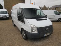 2013 FORD TRANSIT 100T 280 2.2TDCi SWB MEDIUM ROOF 6 SPEED VAN WITH AIR-CONDITIONING £6495.00