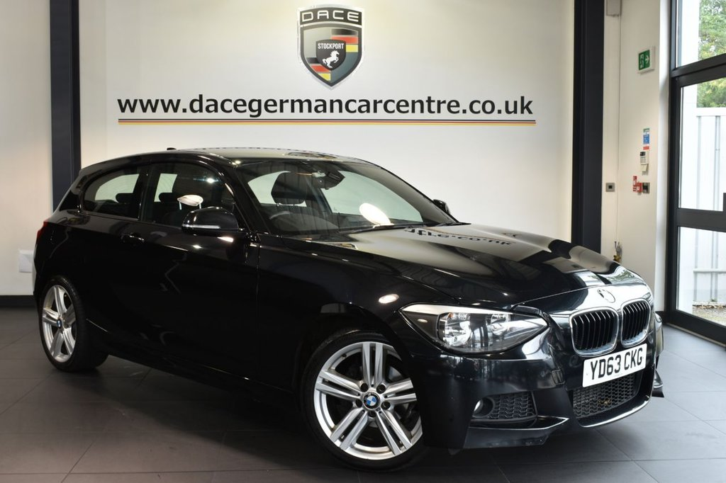 """USED 2013 63 BMW 1 SERIES 2.0 118D M SPORT 3DR 141 BHP excellent service history Finished in a stunning sapphire metallic black styled with 18"""" alloys. Upon opening the drivers door you are presented with cloth upholstery, excellent service history, £30 road tax, bluetooth, dab radio, rain sensors, fog lights, aux port, auto air con, sport seats, alloy wheels"""