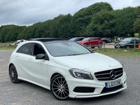 USED 2013 MERCEDES-BENZ A CLASS 2.1 A220 CDI BLUEEFFICIENCY AMG SPORT 5d AUTO 170 BHP TALIOR MADE FINANCE PACKAGES, X2 KEYS, HIGHEST SPEC IN THE COUNTRY,  £10,00 WORTH OF OPTIONS - SELF PARK  - LANE ASSIST - PANARAMIC ROOF - BLIND SPOT MONITORING  - ADAPTIVE HIGH BEAM ASSIST - HARMON KARDEN  - FULL ELECTRIC SEATS  - LUMBAR SUPPORT  - HEATED SEATS  - 3 STAGE MEMORY SEATS  - FULL BLACK LEATHER WITH RED STITCHING  - NAVIGATION  - DAB RADIO  - BLUETOOTH HANDSFREE AND STREAM  - XENON HEADLAMPS WITH HIGH BEAM ASSIST  - LED REAR LIGHTS