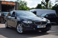USED 2015 15 BMW 5 SERIES 2.0 525D SE TOURING 5d AUTO 215 BHP A superb 2015 BMW 525 2.0d SE Estate touring in black with a black leather interior, with service history and 2 keys.