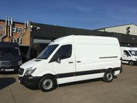 USED 2016 16 MERCEDES-BENZ SPRINTER 2.1 313CDI MWB HIGH ROOF 130BHP LOW 60K. F/S/H. FINANCE. 1 OWNER. LOW 60K MILES. F/S/H. FINANCE. WARRANTY. PX