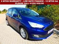 USED 2016 16 FORD GRAND C-MAX 1.5 ZETEC TDCI 5d AUTO 118 BHP All retail cars sold are fully prepared and include - Oil & filter service, 6 months warranty, minimum 6 months Mot, 12 months AA breakdown cover, HPI vehicle check assuring you that your new vehicle will have no registered accident claims reported, or any outstanding finance, Government VOSA Mot mileage check. Because we are an AA approved dealer, all our vehicles come with free AA breakdown cover and a free AA history check.. Low rate finance available. Up to 3 years warranty available.