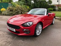 USED 2017 67 FIAT 124 1.4L SPIDER MULTIAIR LUSSO 2d 139 BHP LIKE BRAND NEW