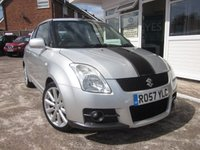 USED 2007 57 SUZUKI SWIFT 1.6 SPORT 3d 124 BHP