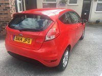 USED 2014 14 FORD FIESTA 1.2 ZETEC 3d 81 BHP Only £30 Road Tax, 12 Mths Mot, Serviced on Delivery !!!
