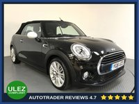 USED 2016 16 MINI CONVERTIBLE 1.5 COOPER 2d AUTO 134 BHP HISTORY - SAT NAV - PARKING SENSORS - CAMERA - AIR CON - BLUETOOTH - DAB RADIO - CRUISE - HALF LEATHER