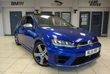 """USED 2015 15 VOLKSWAGEN GOLF 2.0 R 3d 298 BHP FINISHED IN STUNNING BLUE WITH FULL BLACK R-LINE SPORTS SEATS + FULL SERVICE HISTORY + ELECTRIC SUNROOF + HEATED FRONT SEATS + REVERSE CAMERA + PRIVACY GLASS + FRONT/REAR PARKING SENSORS + ELECTRIC FOLDING MIRRORS + MULTIFUNCTION STEERING WHEEL + ADAPTIVE CRUISE CONTROL + XENON HEADLIGHTS + DUAL CLIMATE CONTROL + BLUETOOTH + DAB DIGITAL RADIO + 18"""" DIAMOND CUT ALLOY WHEELS"""