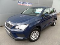 2017 SEAT ATECA 1.0 TSI ECOMOTIVE S 5d 114 BHP ALLOYS, AIR CON BLUETOOTH £11995.00