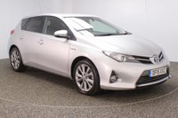 USED 2015 15 TOYOTA AURIS 1.8 EXCEL VVT-I 5DR AUTO SAT NAV HALF LEATHER SEATS 1 OWNER 99 BHP SERVICE HISTORY + HEATED HALF LEATHER SEATS + SATELLITE NAVIGATION + REVERSE CAMERA + PARK ASSIST + PARKING SENSOR + BLUETOOTH + CRUISE CONTROL + CLIMATE CONTROL + MULTI FUNCTION WHEEL + PRIVACY GLASS + DAB RADIO + XENON HEADLIGHTS + RADIO/CD/AUX/USB + ELECTRIC WINDOWS + ELECTRIC MIRRORS + 17 INCH ALLOY WHEELS