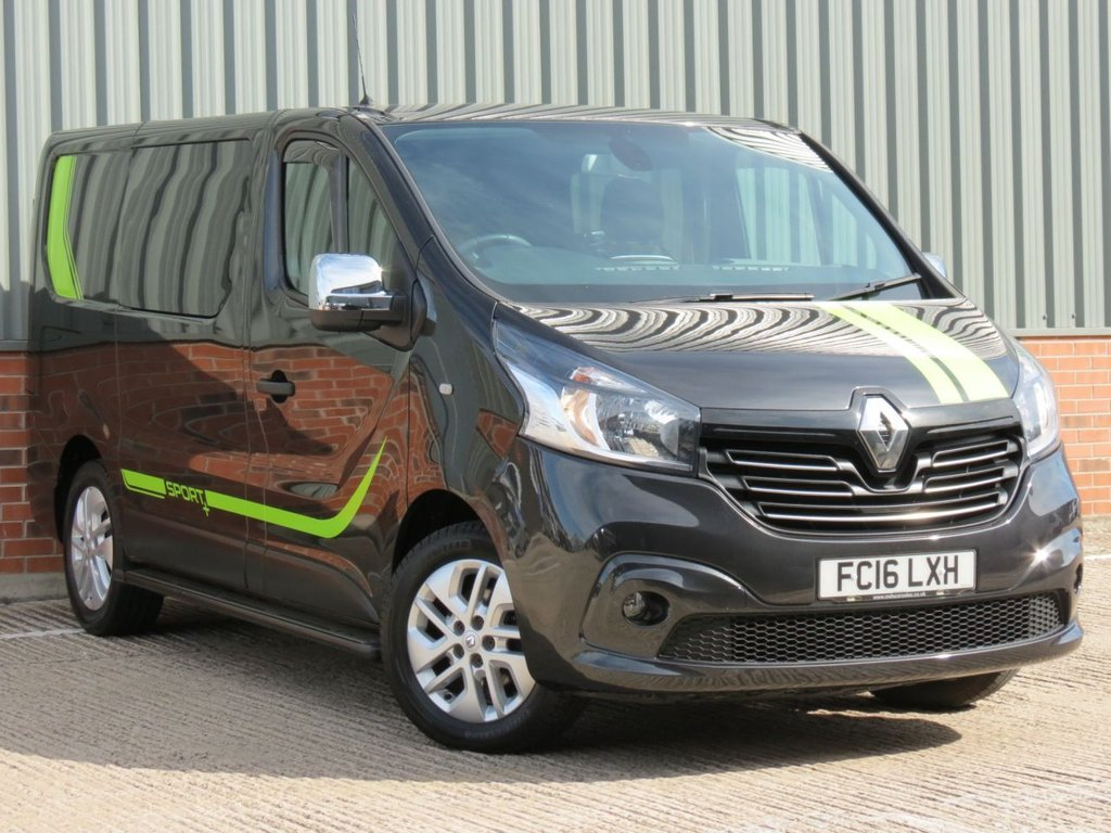 USED 2016 16 RENAULT TRAFIC 1.6 SL27 SPORT NAV ENERGY DCI 1d 125 BHP 6 SEAT COMBI WELL CARED FOR EXAMPLE