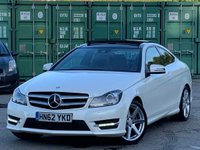 USED 2012 62 MERCEDES-BENZ C CLASS 1.8 C250 BlueEFFICIENCY AMG Sport 2dr PanRoof/LaneAssist/Nav/Cruise