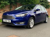 USED 2016 66 FORD FOCUS 1.5 ZETEC TDCI 5d 118 BHP FULL SERVICE HISTORY, £0 ROAD TAX, 1YR MOT EXCELLENT CONDITION,  NAV, ALLOYS, AIR CON, BLUETOOTH, RADIO CD, E/WINDOWS, R/LOCKING, FREE WARRANTY, FINANCE AVAILABLE, HPI CLEAR, PART EXCHANGE WELCOME,