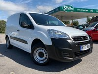 USED 2017 17 PEUGEOT PARTNER 1.6 BLUE HDI SE L1 1d 100 BHP 3 Seat, Euro 6, ULEZ Compliant, Low Mileage, One Owner.
