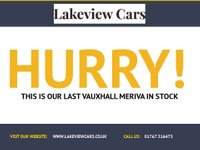 USED 2013 62 VAUXHALL MERIVA 1.4 SE 5d 118 BHP
