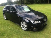 USED 2013 63 AUDI A3 2.0 TDI S LINE 5d 148 BHP **EXCELLENT FINANCE PACKAGES**ONLY £20 PER YEAR ROAD TAX**BLUETOOTH**