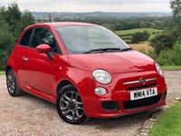 2014 FIAT 500 1.2 S 3d 69 BHP £4285.00