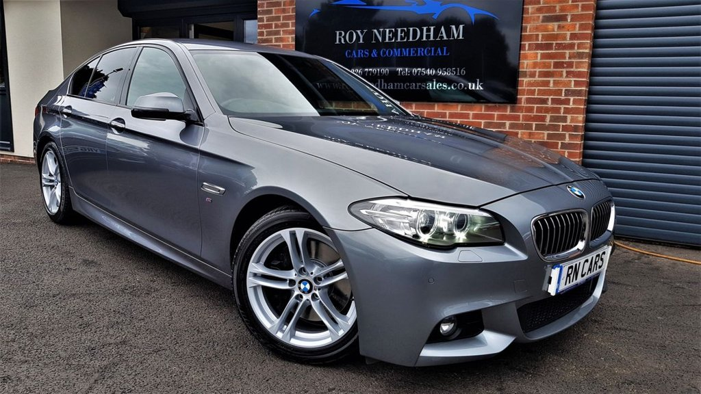 USED 2015 15 BMW 5 SERIES 3.0 535D M SPORT 4DR AUTO 309 BHP ***SAT NAV - LOW MILES - HEATED LEATHER***