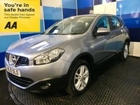 """USED 2010 10 NISSAN QASHQAI 1.5 ACENTA DCI 5d 105 BHP A truely stunning example of this much admired family diesel crossover finished in unmarked mineral grey metalic complemented with 17"""" 5 twin spoke alloys ,this comes with dual zone digital climate control,front and rear fog lights,rear parking sensors,space saver spare,cd radio with aux input,bluetooth phone conectivity,cruise control/speed limiter,power fold mirrors,onboard computer,auto lights and wipers plus all the usual refinements. This car returns a very impressive combined 55.3 mpg."""