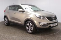 USED 2013 63 KIA SPORTAGE 1.7 CRDI 3 SAT NAV 5DR SAT NAV HEATED LEATHER SEATS 114 BHP HEATED FRONT/REAR LEATHER SEATS + SATELLITE NAVIGATION + REVERSE CAMERA + PANORAMIC ROOF + PARKING SENSOR + BLUETOOTH + CRUISE CONTROL + CLIMATE CONTROL + MULTI FUNCTION WHEEL + PRIVACY GLASS + XENON HEADLIGHTS + ELECTRIC WINDOWS + ELECTRIC MIRRORS + 18 INCH ALLOY WHEELS