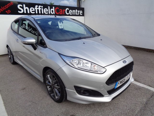 USED 2017 66 FORD FIESTA 1.0 ST-LINE 3 door 124 BHP silver £202 A Month  Cloth interior  Free rd  tax 65.3 mpg. It comes equipped with sat nav alloys air con parking sensors for those tricky spaces, Bluetooth and DAB radio to keep you connected and entertained over the miles,