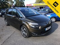 USED 2015 15 CITROEN C4 GRAND PICASSO 2.0 BLUEHDI EXCLUSIVE PLUS 5 DOOR AUTO 148 BHP IN BRONZE PANORAMIC ROOF,SERVICE HISTORY GREAT CONDITION. ULEZ COMPLIANT. APPROVED CARS AND FINANCE ARE PLEASED TO OFFER THIS CITROEN C4 GRAND PICASSO 2.0 BLUEHDI EXCLUSIVE PLUS 5 DOOR AUTO 148 BHP IN BRONZE. THIS CAR HAS A GREAT SPEC INCLUDING ABS,POWER STEERING,SAT NAV,PANORAMIC ROOF,CRUISE CONTROL,PARKING SENSORS,REVERSE CAMERA,SERVICE HISTORY AND MUCH MORE. AS YOU CAN SEE THIS IS A LOVELY CAR AND WE HAVE PRICED IT TO SELL QUICKLY SO CALL 01622-871-555 AND BOOK YOUR TEST DRIVE TODAY.