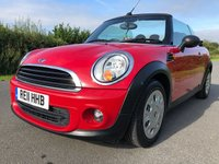 2011 MINI CONVERTIBLE 1.6 ONE 2d 98 BHP £5295.00