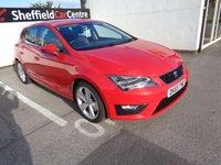 2015 SEAT LEON 2.0 TDI FR TECHNOLOGY 5 door  184 BHP red £9275.00
