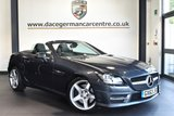 "USED 2013 63 MERCEDES-BENZ SLK 2.1 SLK250 CDI BLUEEFFICIENCY AMG SPORT 2DR AUTO 204 BHP superb service history Finished in a stunning tenorite metallic grey styled with  18"" alloys. Upon opening the drivers door you are presented with leather interior, superb service history, bluetooth, sat nav prep , led daytime running lights, dab radio, air conditioning, AMG sport package"