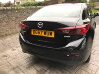 USED 2017 67 MAZDA 3 2.0 SE-L NAV 4d 118 BHP LOW MILES+NAV+B/TOOTH+CRUISE+DAB+HEATED SEATS