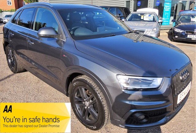 USED 2014 14 AUDI Q3 2.0 TDI S LINE 5d 138 BHP SERVICE HISTORY S-LINE SPECIFICATION JUST BEEN SERVICED BY OURSELVES