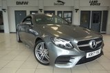 USED 2017 17 MERCEDES-BENZ E CLASS 2.0 E 220 D AMG LINE 2d AUTO 192 BHP 1 OWNER FINISHED IN STUNNING SELENITE GREY WITH HALF BLACK LEATHER SEATS AND UPHOLSTERY + IF THERE IS A BETTER LOOKING DRIVERS CABIN THAN THIS, WE'VE YET TO SEE IT + FULL MERCEDES SERVICE HISTORY + WIDESCREEN COCKPIT INCLUDING LARGE SCREEN SATELLITE NAVIGATION + REAR VIEW CAMERA + PARKING SENSORS + HEATED SEATS + AMBIENCE ILLUMINATION + BLUETOOTH + AUX/USB CONNECTION + DAB DIGITAL RADIO + CLIMATE CONTROLLED DUAL ZONE AIR CONDITIONING + 19 INCH ALLOY WHEELS