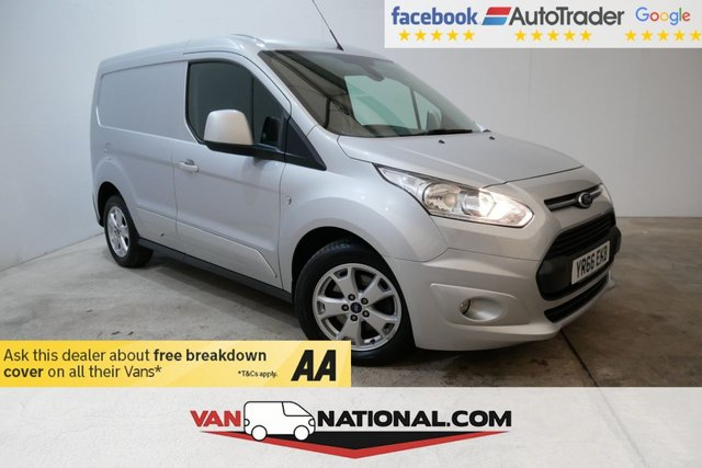 USED 2016 66 FORD TRANSIT CONNECT 1.5 200 LIMITED P/V 120 BHP (AIR CON THREE SEATS) *  BLUETOOTH * DAB * AIR CON * ELECTRIC FOLDING MIRRORS * REAR PARKING SENSORS * HEATED DRIVERS SEAT *