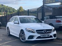 USED 2018 68 MERCEDES-BENZ C CLASS 1.5 C 200 AMG LINE PREMIUM 5d AUTO 181 BHP STUNNING WHITE PAINT WORK, BLACK ARTICO, DINAMICA LUXURY INTERIOR, SAT NAV, DAB RADIO, REVERSE CAMERA, HEATED SEATS, CRUISE CONTROL, CLIMATE CONTROL, FRONT AND REAR PARKING SENSORS, 1 OWNER