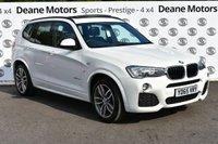USED 2015 65 BMW X3 2.0 XDRIVE20D M SPORT 5d AUTO 188 BHP PANROOF
