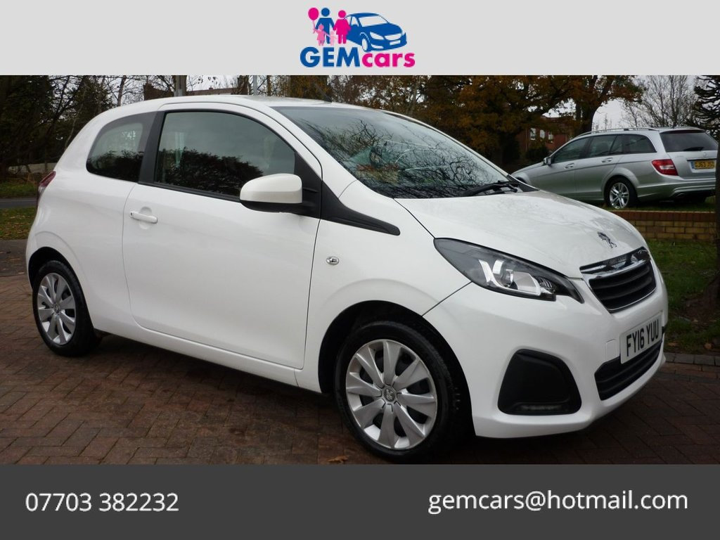 USED 2016 16 PEUGEOT 108 1.0 ACTIVE 3d 68 BHP GO TO OUR WEBSITE TO WATCH A FULL WALKROUND VIDEO