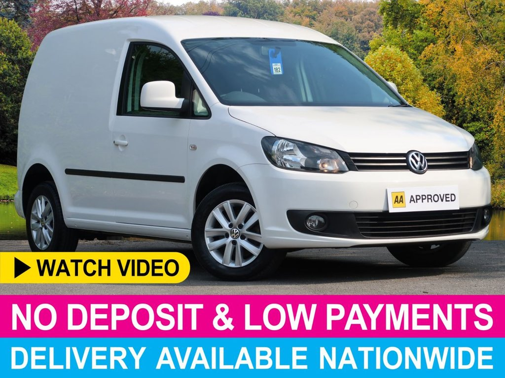 USED 2014 14 VOLKSWAGEN CADDY 1.6 TDI HIGHLINE C20 PANEL VAN WITH AIR CON AIR CONDITIONING ALLOY WHEELS PLYWOOD-LINED CRUISE