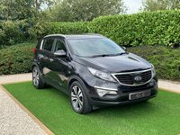 USED 2013 13 KIA SPORTAGE 2.0 CRDI KX-3 SAT NAV 5d 134 BHP An Excellent Example with a Superb Service History and a Huge Equipment list to Include: Full Black Leather Heated Seats with Contrast White Stitch, Satellite Navigation + Bluetooth Connectivity + USB / Ipod Connection, Twin Sunroofs, Front and Rear Park Distance Control + Reverse Camera, 18 Inch Diamond Turned Alloy Wheels, Leather Multi Function Steering Wheel, Cruise Control, Digital Dual Zone Climate Control, Heated Rear Seats, Heated Electric Powerfold Mirrors, On-board Computer