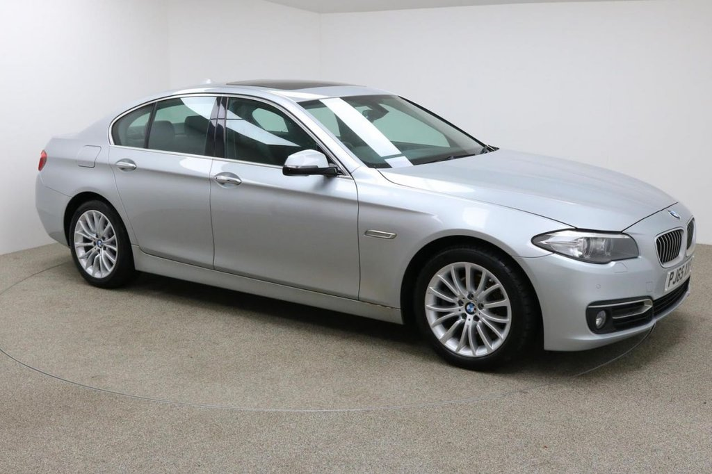 USED 2015 65 BMW 5 SERIES 2.0 520D LUXURY 4d 188 BHP ELECTRIC SEATS + FULL SERVICE HISTORY + 1 OWNER + £30 TAX + HEATED SEATS + SUN ROOF + SAT-NAV + REAR CAMERA + PARKING SENSORS