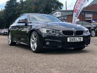 USED 2015 15 BMW 4 SERIES 2.0 420D M SPORT 2d AUTO 181 BHP NAVIGATION SYSTEM *  BLUETOOTH *  HEATED SEATS *  FRONT AND REAR PARKING AID *  MEDIA CONNECTIVITY *